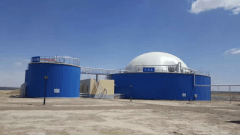 Integrated Biogas Anaerobic Fermentation Tank for CHP
