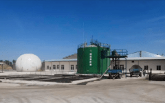 Biogas Anaerobic Digester Plant for Pig Manure Treatment