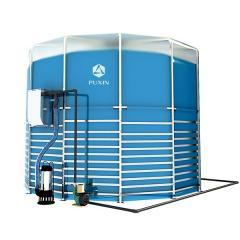 Portable assembly biogas system-15m3